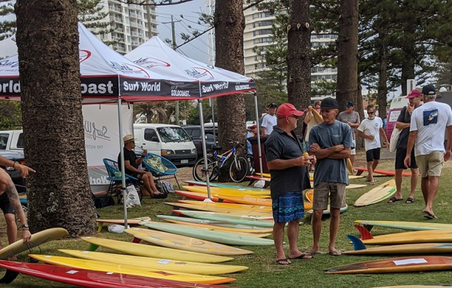 Surfworld Single Fin display at the Billabong Burleigh Boardriders Single Fin Festival January 2020
